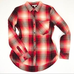 Calvin Klein Jeans   Red Plaid Button Down Flannel